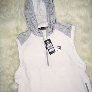 Under Armour Wht/Gray sleeveless men's hoodie XL